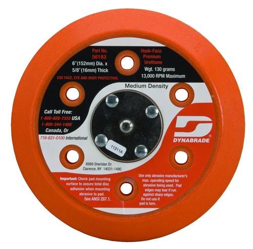 "Dynabrade Accessories 6"" (152MM)DIA Vacuum Disc Pad, HookFace, Short Nap(56183)"