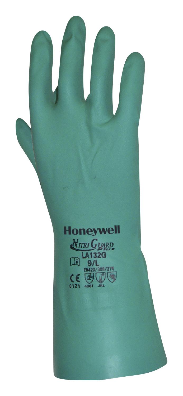 Honeywell LA132G NitriGuard Plus Multipurpose Gloves, Size Large