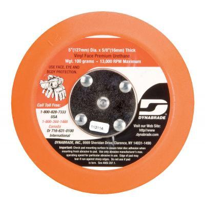 "Dynabrade Accessories DiscPad 5""NV Vinyl Face Soft Urethane5/16""-24-56185"